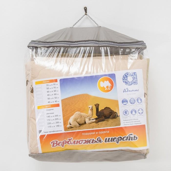 """Одеяло всесезонное Адамас """"Верблюжья шерсть"""", размер 140х205 ± 5 см, 300гр/м2, чехол тик"""