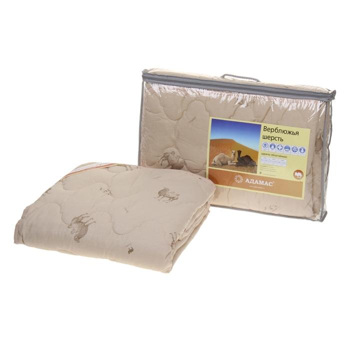 """Одеяло облегчённое, всесезонное Адамас """"Верблюжья шерсть"""", размер 172х205 ± 5 см, 200гр/м2, чехол тик"""