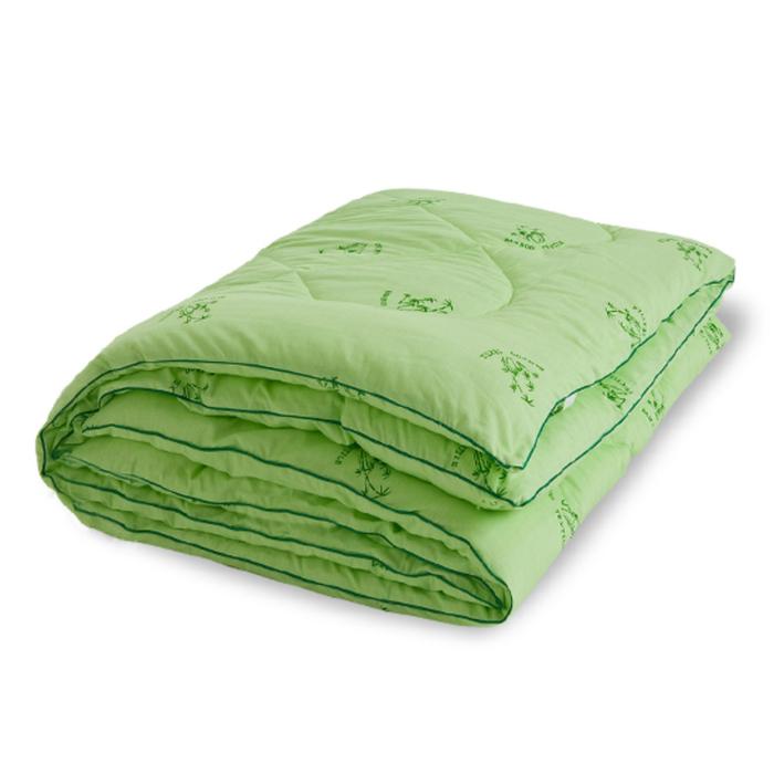 "Одеяло тёплое ""Бамбук"", размер 172х205 см, поплин, салатовый"