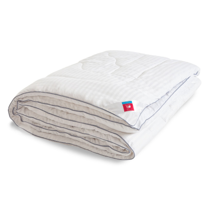 "Одеяло тёплое ""Элисон"", размер 140х205 см, сатин, белый"