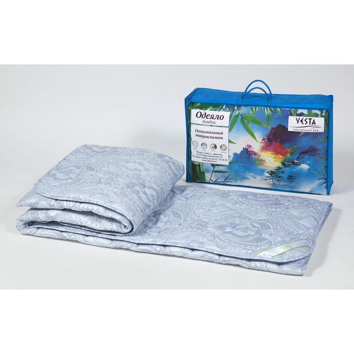 Одеяло зимнее 220х205 см, бамбуковое волокно, ткань тик, п/э 100 %