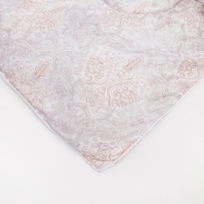 Одеяло зимнее 220х205 см, шерсть овечья, ткань тик, п/э 100%