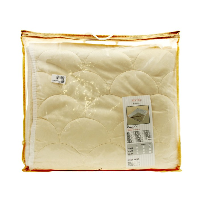Одеяло Миродель Меринос теплое, шерсть мериносовой овцы, 145*205 ± 5 см, поликоттон, 250 г/м2