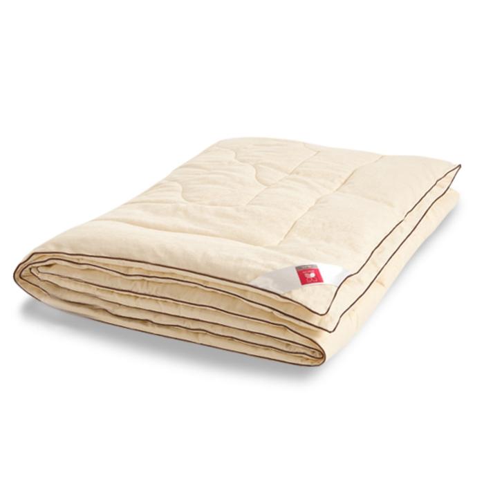 "Одеяло лёгкое ""Милана"", размер 140х205 см, сатин, шампань"