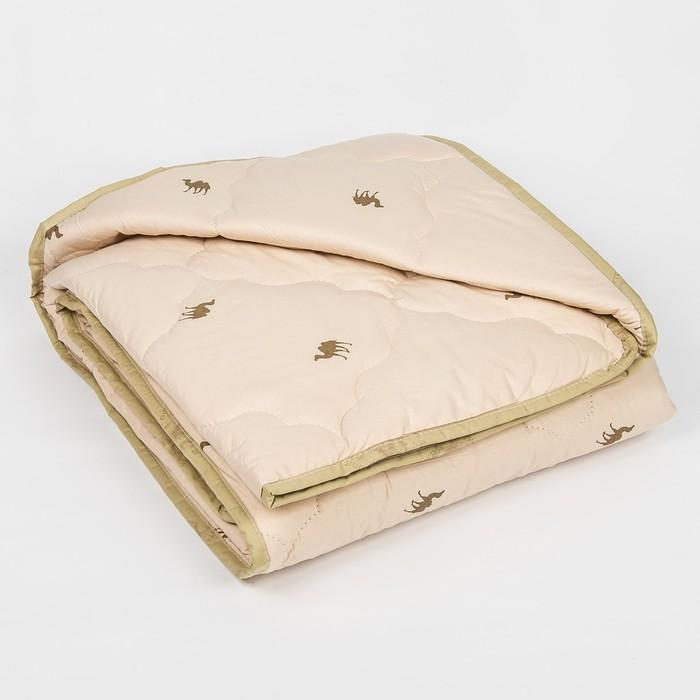 """Одеяло всесезонное Адамас """"Верблюжья шерсть"""", размер 200х220 ± 5 см, 300гр/м2, чехол тик"""