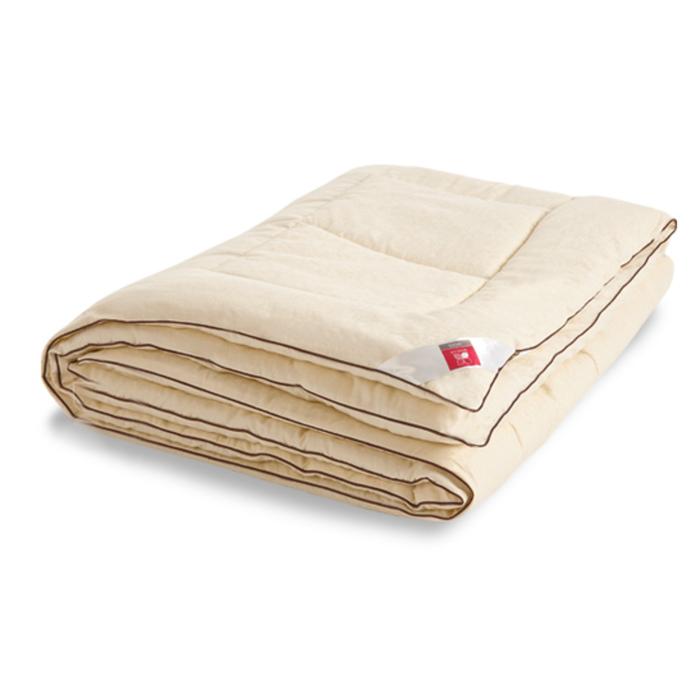 "Одеяло тёплое ""Милана"", размер 140х205 см, сатин, шампань"