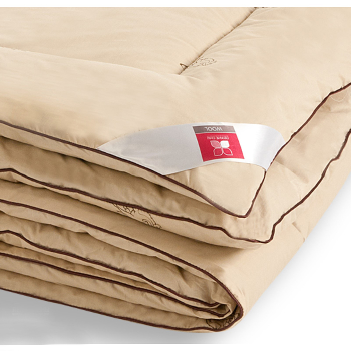 "Одеяло тёплое ""Верби"", размер 172х205 см, тик, бежевый"