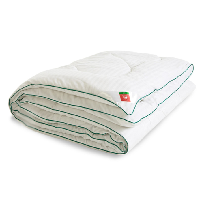 """Одеяло тёплое """"Бамбоо"""", размер 200х220 см, сатин, белый"""