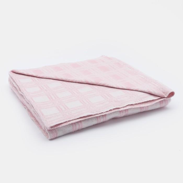 Одеяла х/б 140х205 см, клетка звездочка, розовый, 80%хлопок, 20% п/э