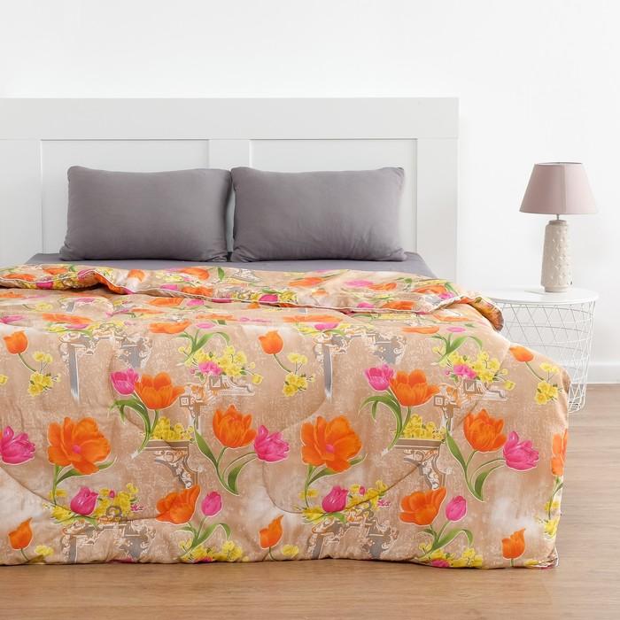 Одеяло всесезонное 172х205 см, цвет МИКС, полиэфирное волокно, полиэстер
