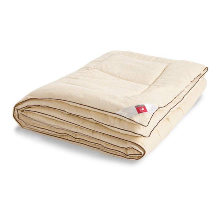 "Одеяло тёплое ""Милана"", размер 200х220 см, сатин, шампань"