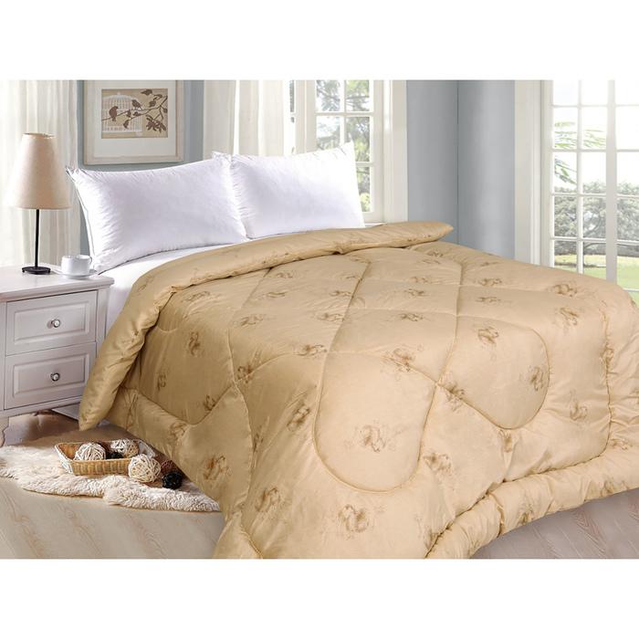 Одеяло «Верблюжка», 175х205 см, верблюжья шерсть/полиэфир, 200 гр/м2, поликоттон