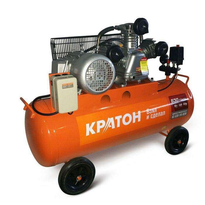 Компрессор ременной масляный Кратон AC-630-110-BDW