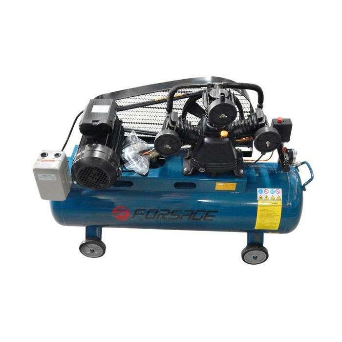 Компрессор Forsage F-TB290-150, 3-х поршневой с рем. приводом, 3 кВт, 100л, 360л/м, 380В