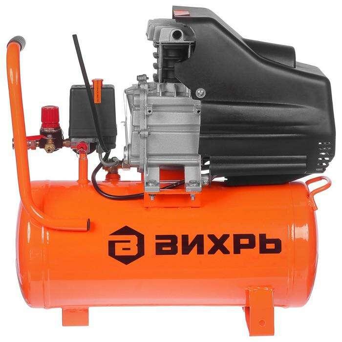 """Компрессор """"Вихрь"""" КМП-230/24, коаксиальный, 220 В, 1.6 кВт, 8 бар, 230 л/мин, 24 л"""