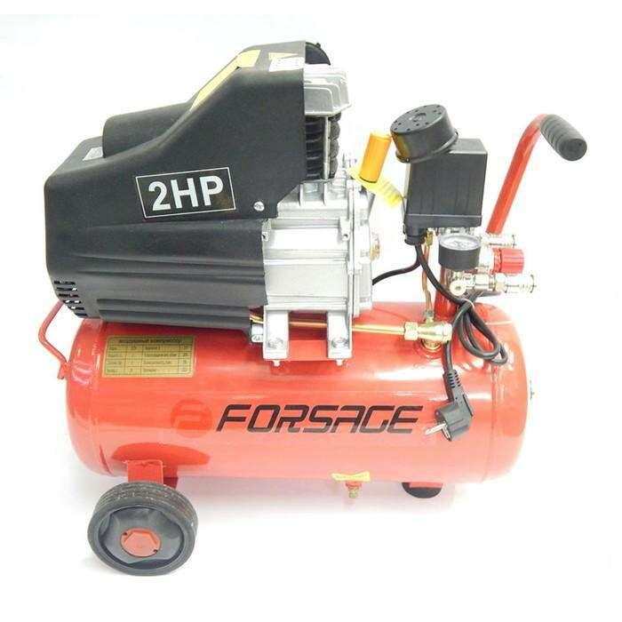 Компрессор Forsage F-BM20/24, поршневой с прямым приводом, 1.5 кВт, 24л, 8 бар, 180 л/м