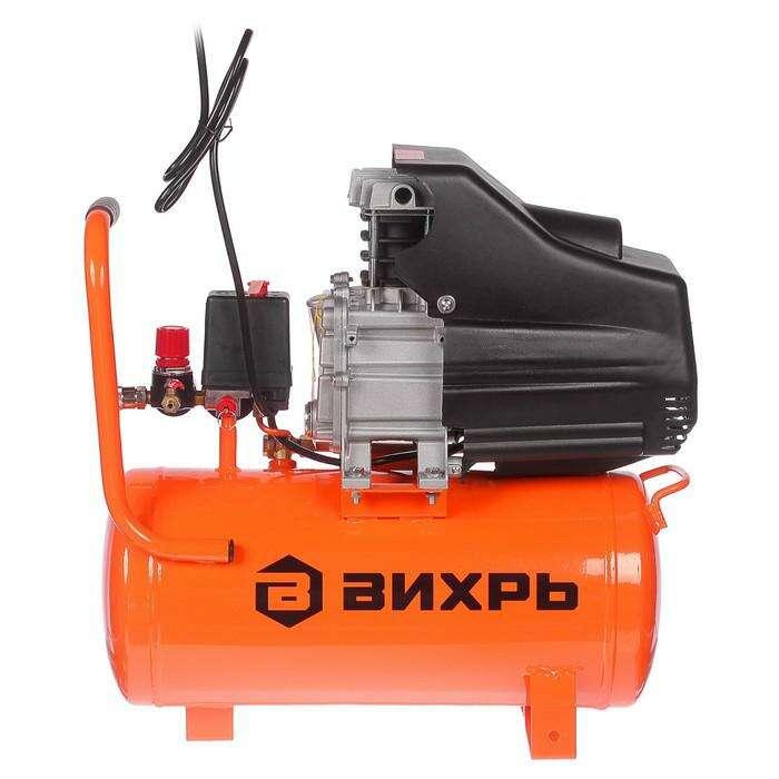 """Компрессор """"Вихрь"""" КМП-260/24, коаксиальный, 220 В, 2 кВт, 8 бар, 260 л/мин, 24 л"""