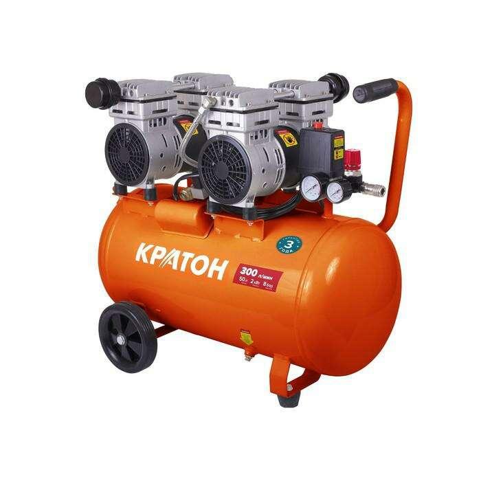 "Компрессор ""Кратон"" AC-300-50-OFS, прямой привод, б/м, 2000 Вт, 8 бар, 300 л/мин, 50 л"