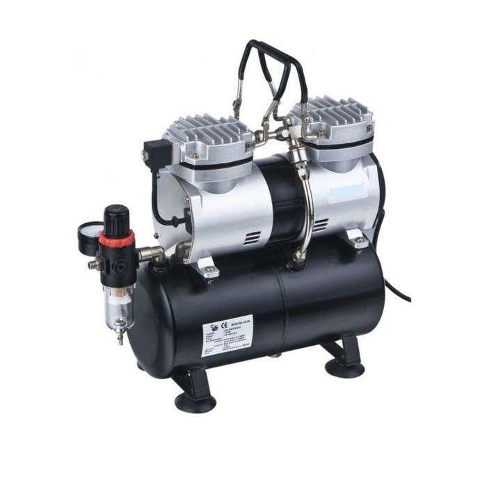 Мини компрессор Rotake RT-096, безмасляный, для аэрографа, 3.5 л, 40 л/мин, 3-4 бар, 1.9 м