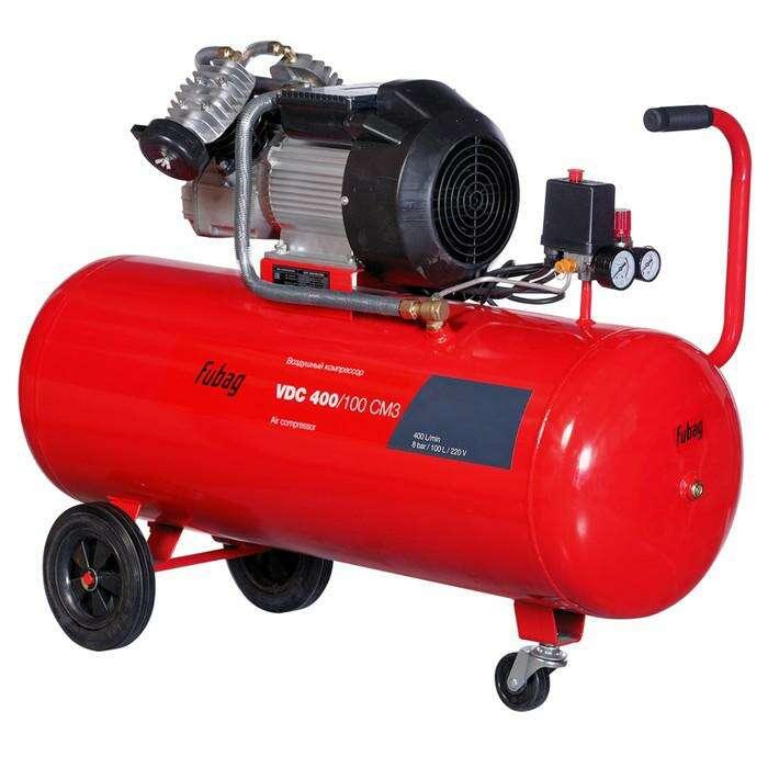 Компрессор Fubag VDС 400/100 CM3, 400 л/мин, 100л, 8бар, 2.2кВт