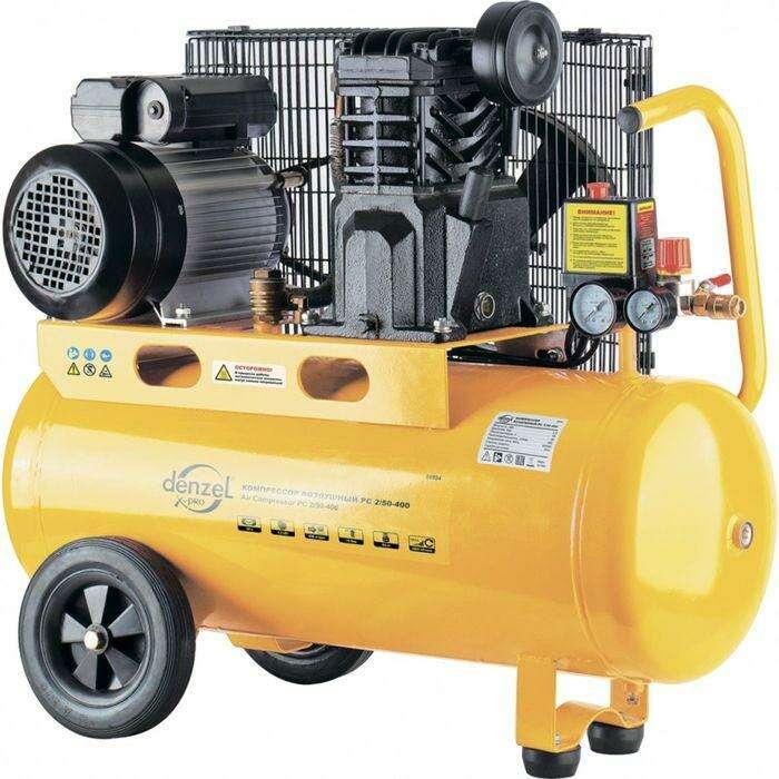 Компрессор DENZEL PC 2/50-400, Х-PRO, масляный,ременный, 10бар, 400 л/мин, 2,3 кВт, 220В