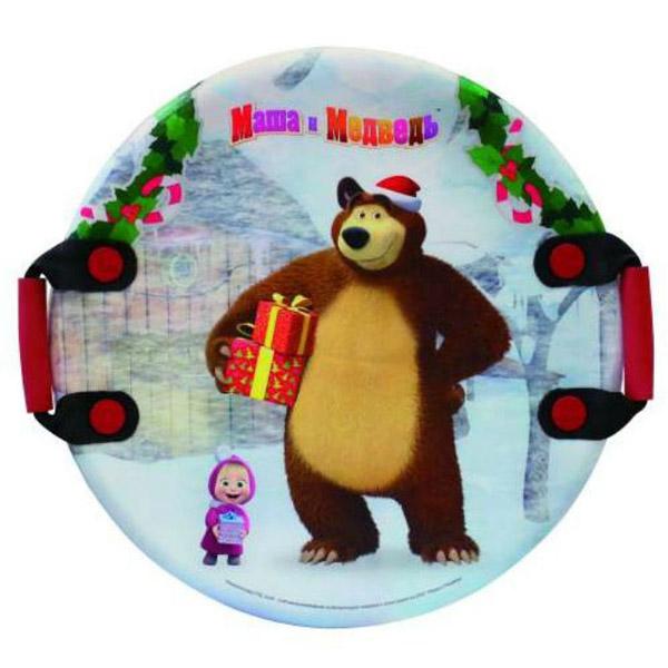 Ледянка 1toy Маша и Медведь 54см круглая
