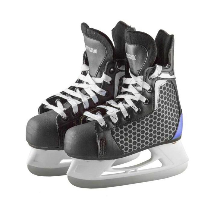 Коньки хоккейные PULSAR NAVY, размер 40