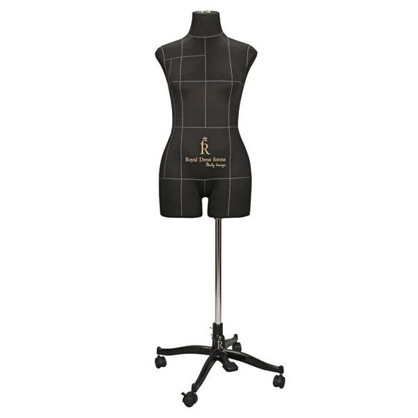 Портновский Манекен Royal Dress Forms Monica черный (р-р 44) +стойка Милан