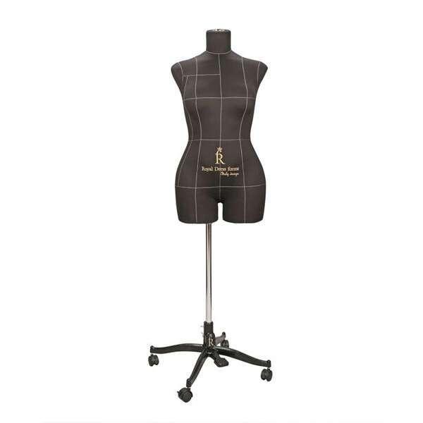 Портновский Манекен Royal Dress Forms Monica черный ( р-р 46)+стойка Милан