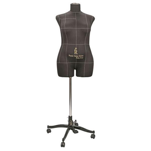 Портновский Манекен Royal Dress Forms Monica черный (р-р 50) +стойка Милан