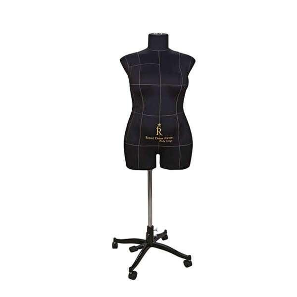 Портновский Манекен Royal Dress Forms Monica черный ( р-р 54)+стойка Милан