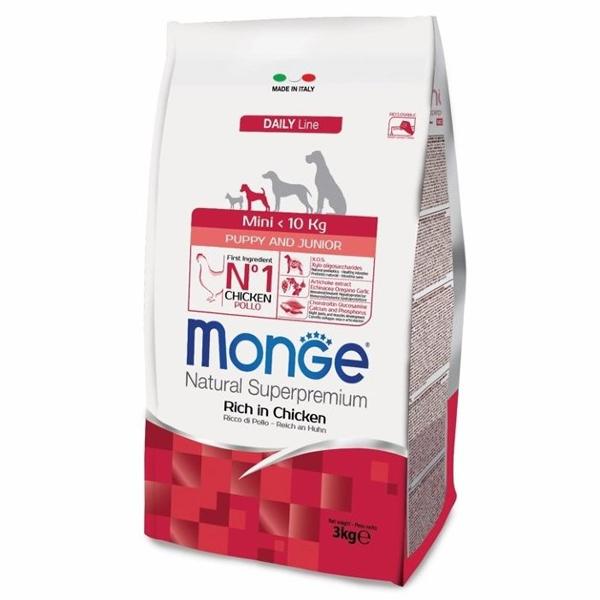 Сухой корм Monge Mini Puppy & Junior для щенков мелких пород (с 2-х месяцев)