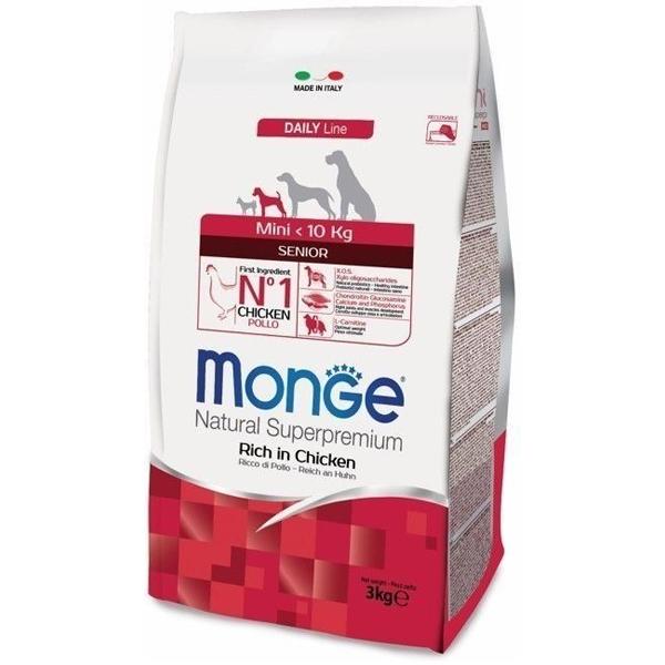 Сухой корм Monge Mini Senior для пожилых собак мелких пород