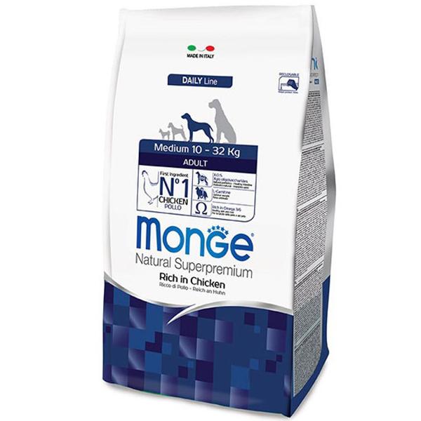 Сухой корм Monge Medium Adult для собак средних пород