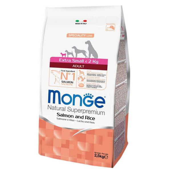 Сухой корм Monge Extra Small Adult Salmone с лососем и рисом для взрослых собак миниатюрных пород