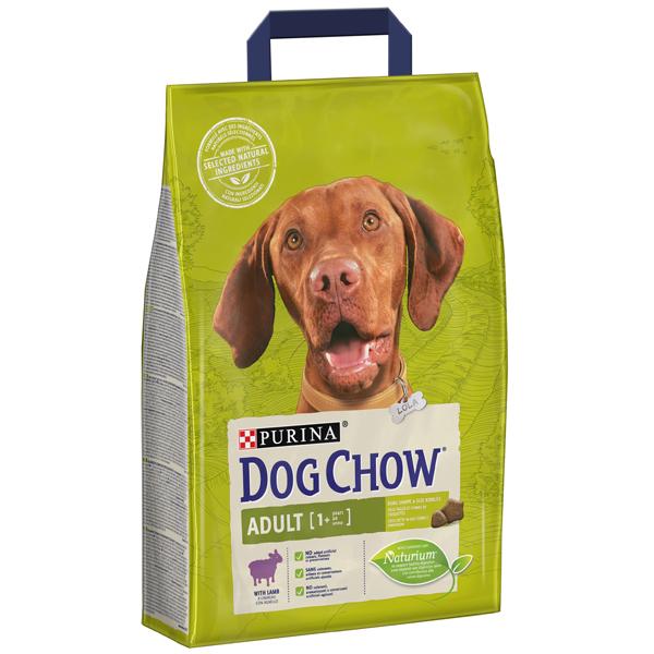 Сухой корм Dog chow Adult для взрослых собак от 1 года до 5 лет с ягненком 14 кг