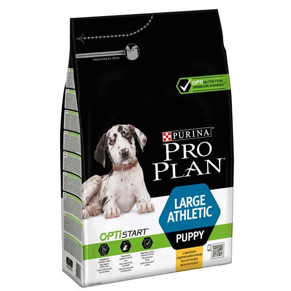 Сухой корм Pro Plan Puppy Large Athletic для щенков крупных пород с курицей 3 кг