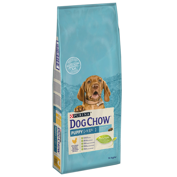 Сухой корм Dog Chow Puppy для щенков до 1 года с курицей 14 кг