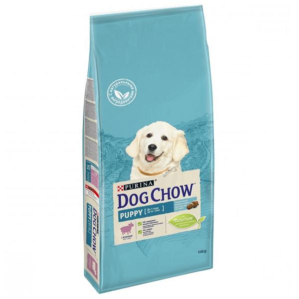 Сухой корм Dog chow Puppy Large Breed для щенков крупных пород до 2 лет с ягненком 14 кг