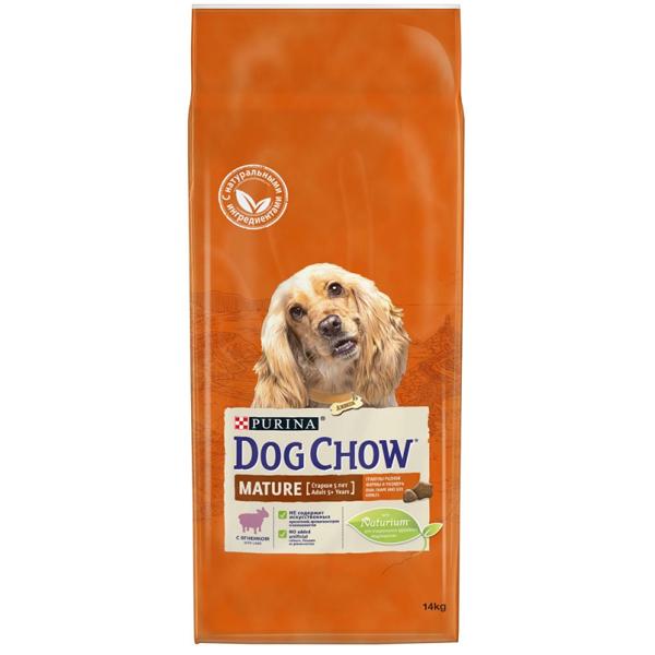 Сухой корм Dog chow Mature для собак старшего возраста (5-9 лет) с ягненком 14 кг
