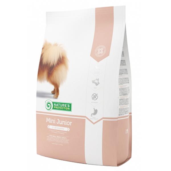 Сухой корм Nature's Protection Mini Junior для щенков мелких пород от 2 до 10 месяцев 2 кг