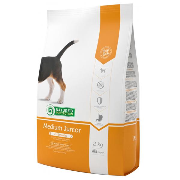 Сухой корм Nature's Protection Medium Junior для щенков средних пород 2 кг