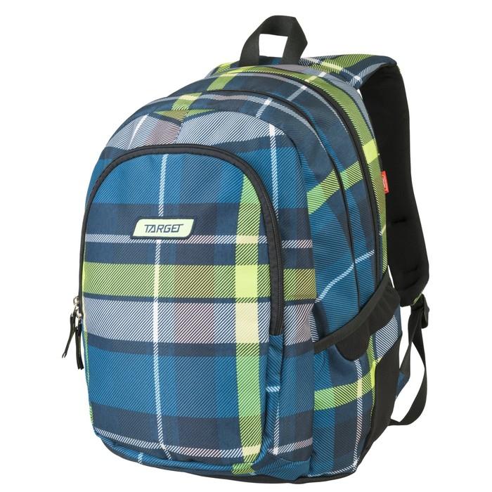 Рюкзак молодежный эргоном.спинка Target 46*32*18 Green 3 отделения, синий/зелёный