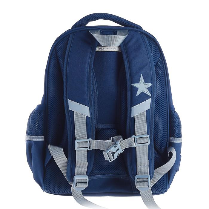 Рюкзак каркасный Bruno Visconti 38 х 30 х 20 см, «Кеды серый», синий