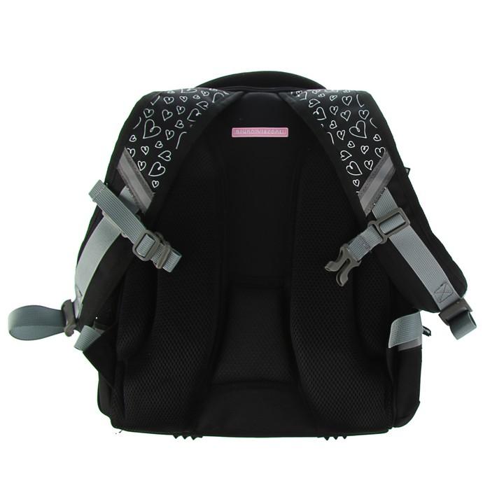 Рюкзак каркасный Bruno Visconti 38 х 30 х 20 см, «Девочка и собака», черный