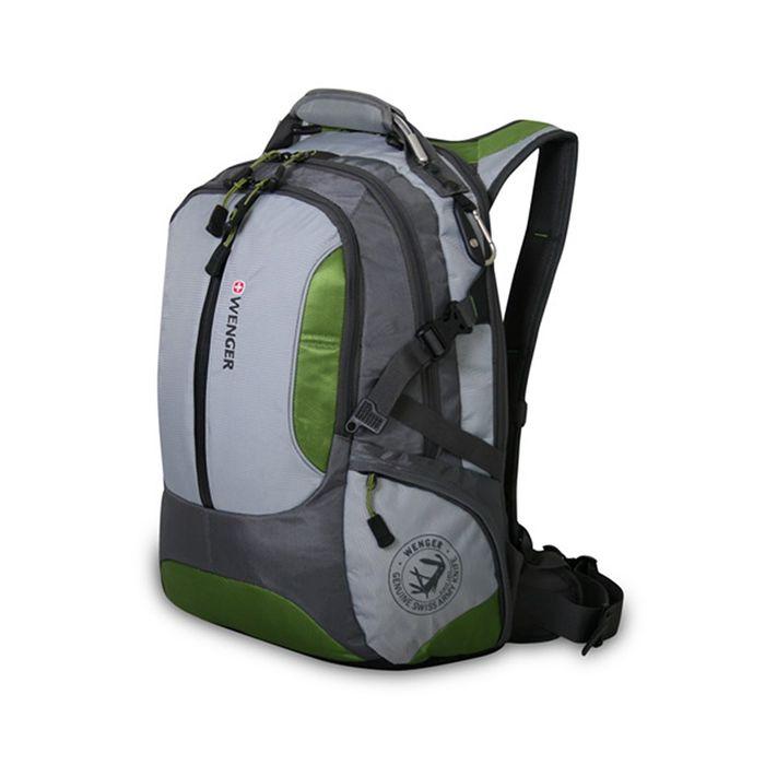 Рюкзак Wenger 15, зелёный/серый, полиэстер 1200D, 50 х 17 х 36 см, 30 л