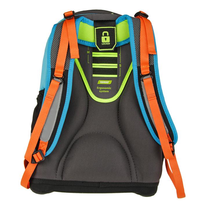 Рюкзак школьный эргономичная спинка для мальчика Target 44*32*17 «Скейтер» чёрный/голубой 17883