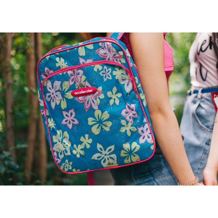 Рюкзак молодёжный, отдел на молнии, наружный карман, усиленная спинка, цвет голубой