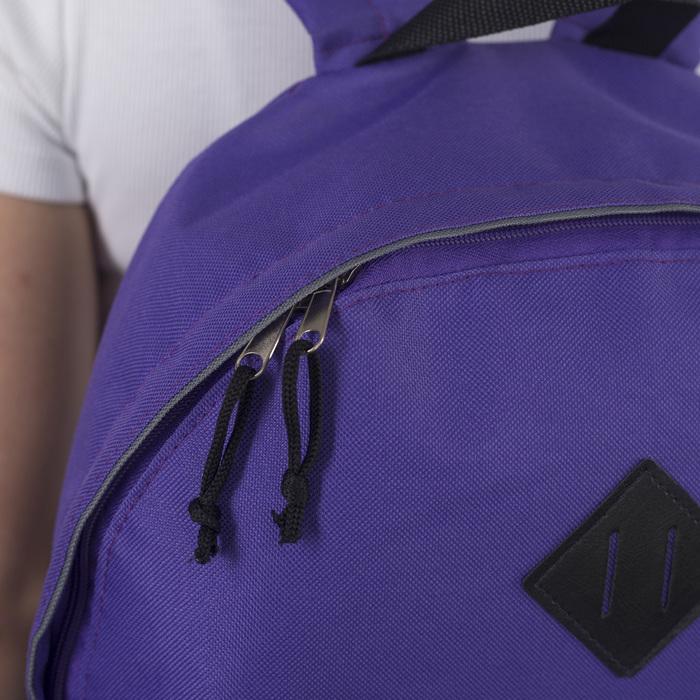 Рюкзак молодёжный, отдел на молнии, наружный карман, цвет фиолетовый