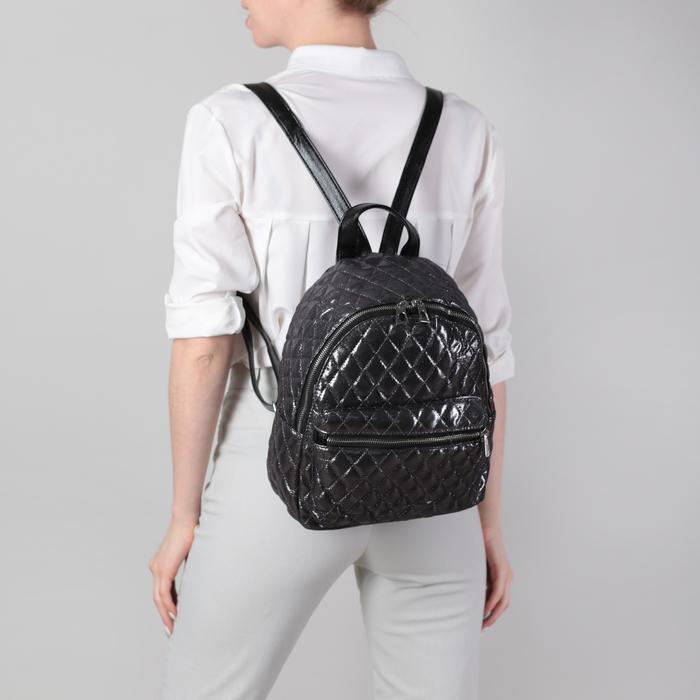 Рюкзак молодёжный, отдел на молнии, 2 наружных кармана, цвет серебро
